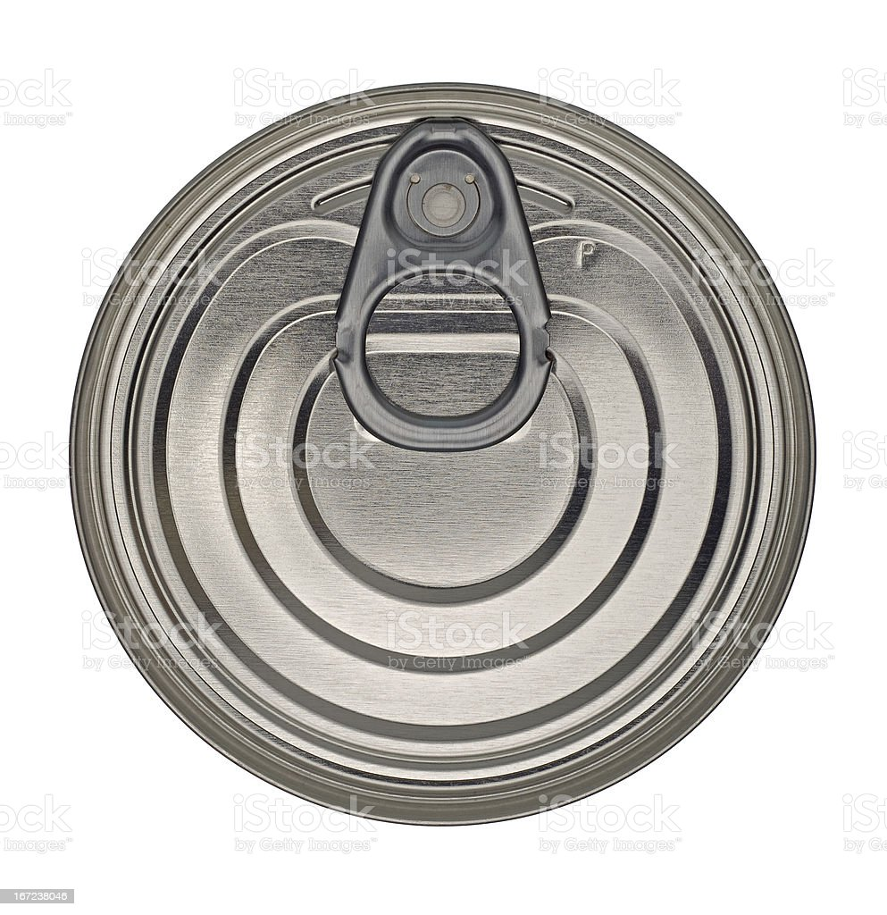 Food Tin Can Lid with Ringpull stock photo
