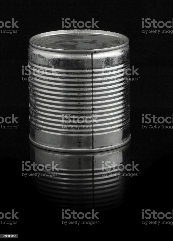 food tin can on black royalty-free stock photo