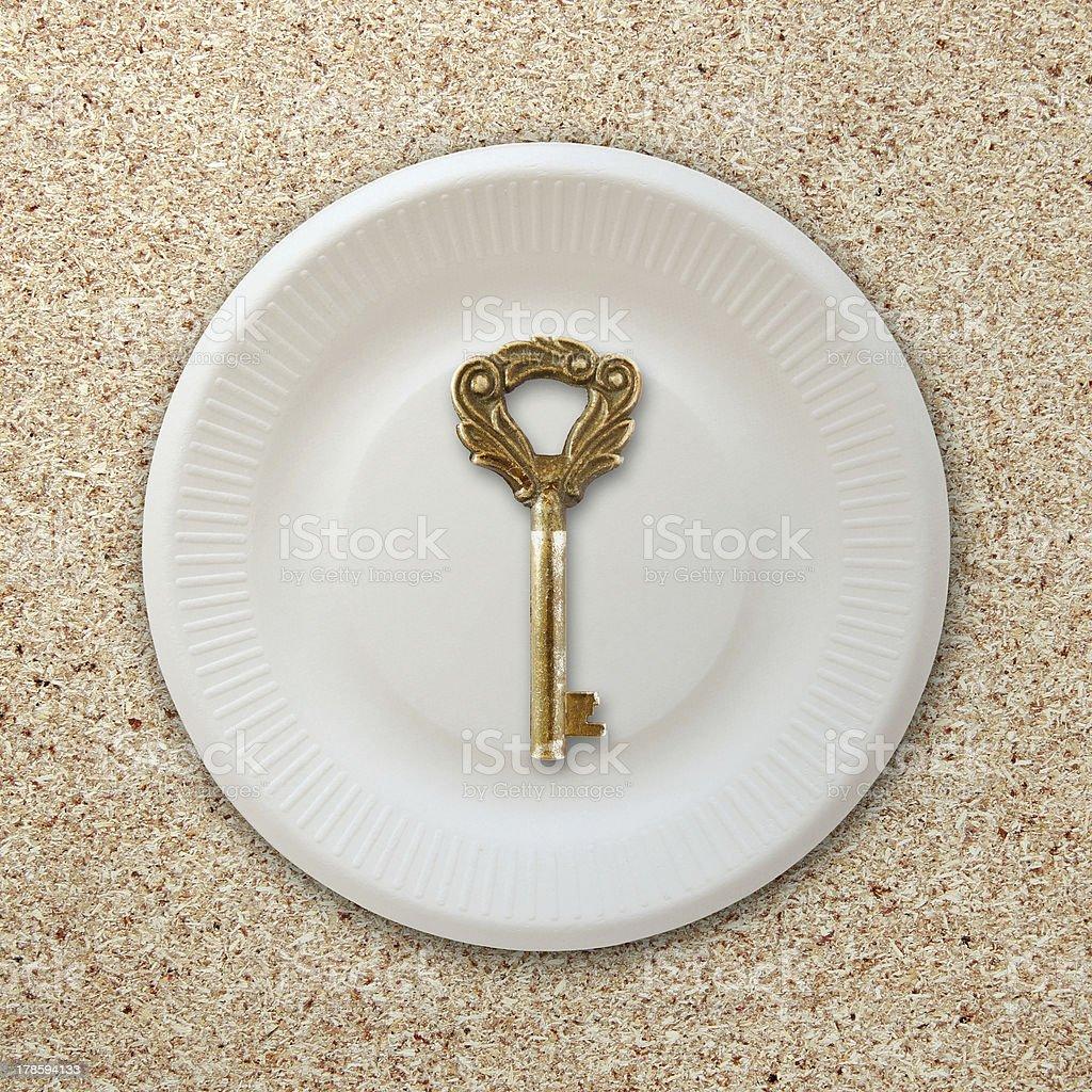 Food to key success royalty-free stock photo