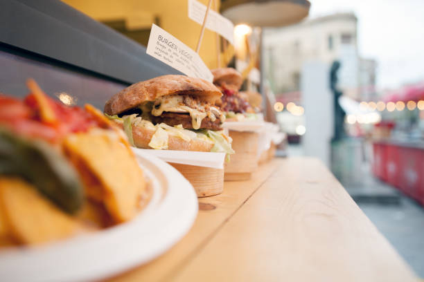 Food Truck Burger Food Truck Burger traditional festival stock pictures, royalty-free photos & images