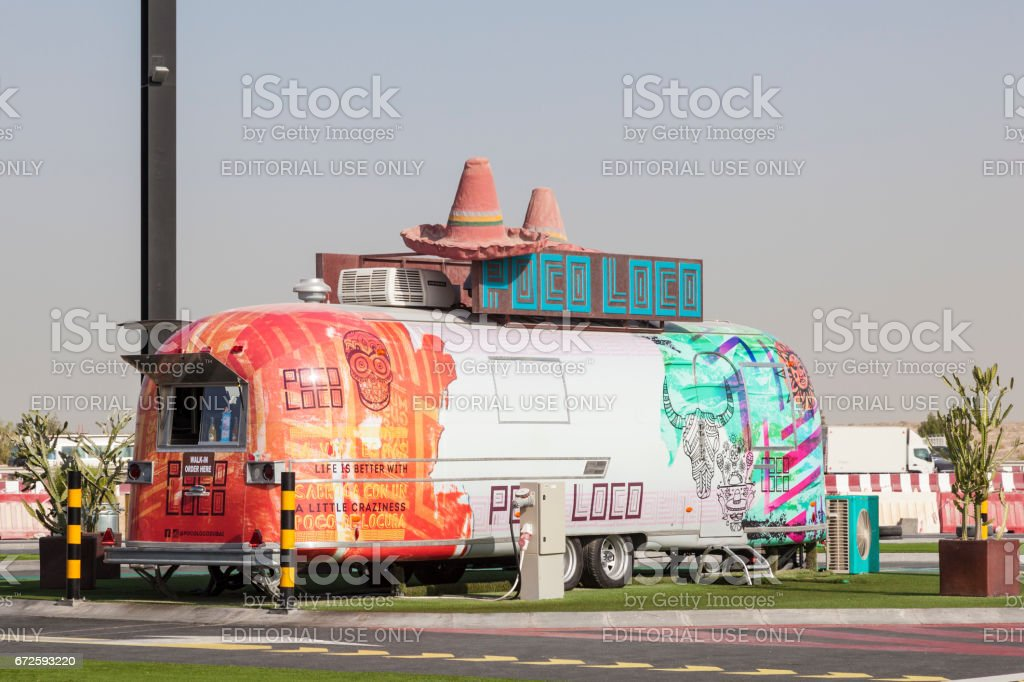 Food truck in Dubai, UAE stock photo