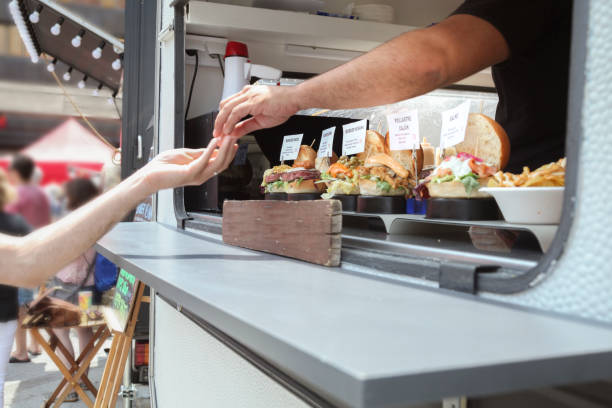 Food truck in the city Food truck in the city food truck stock pictures, royalty-free photos & images