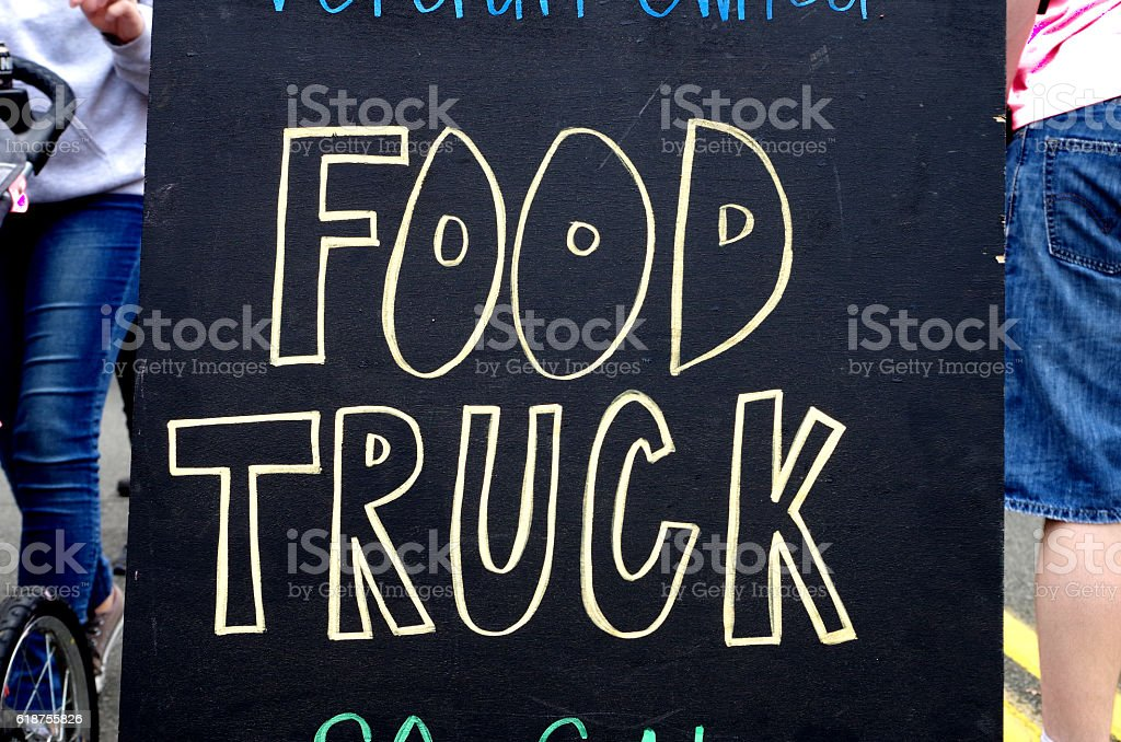 Food Truck Sign stock photo