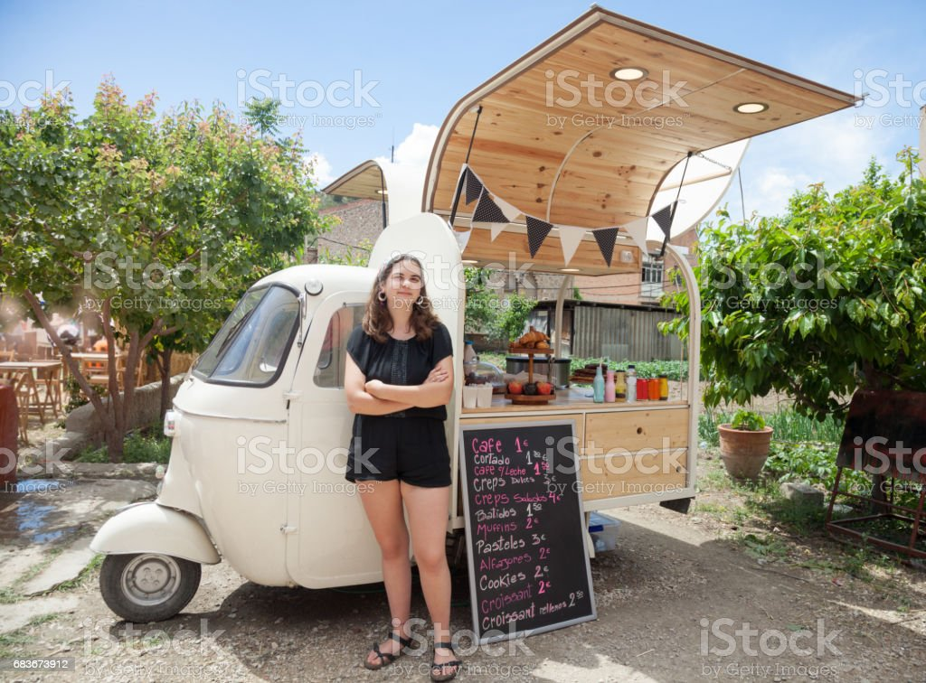 Small Food Truck For Sale >> Food Truck Small Business Owner Stock Photo & More ...
