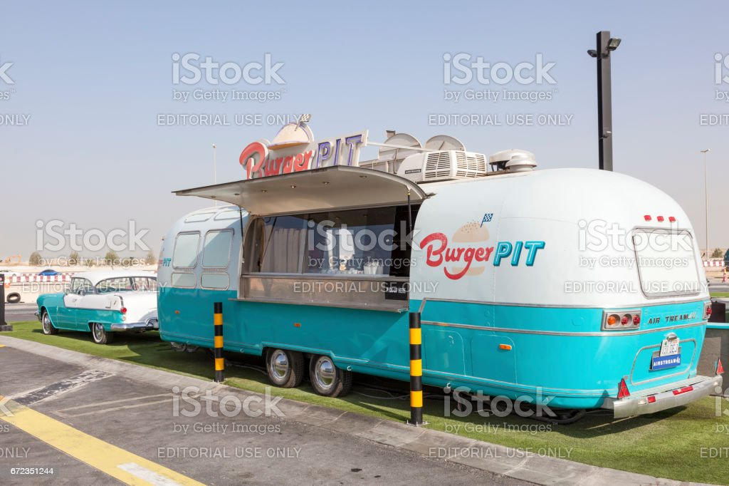 Food Trucks in Dubai, UAE stock photo
