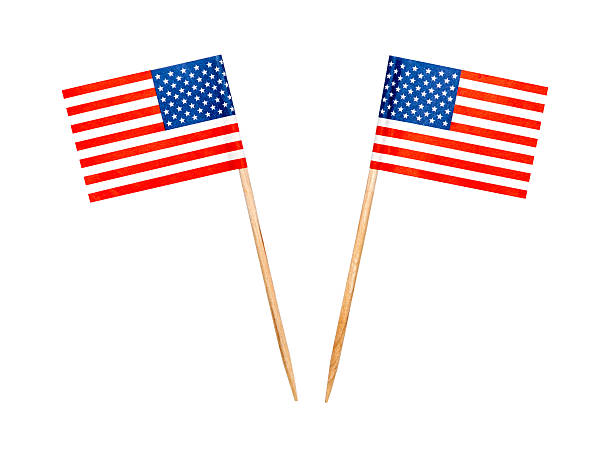 Food USA flag toothpicks stock photo