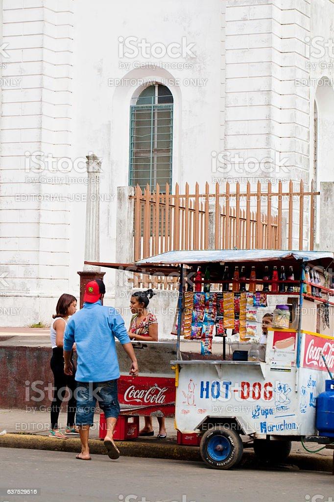 Food Vending in Nicaragua stock photo