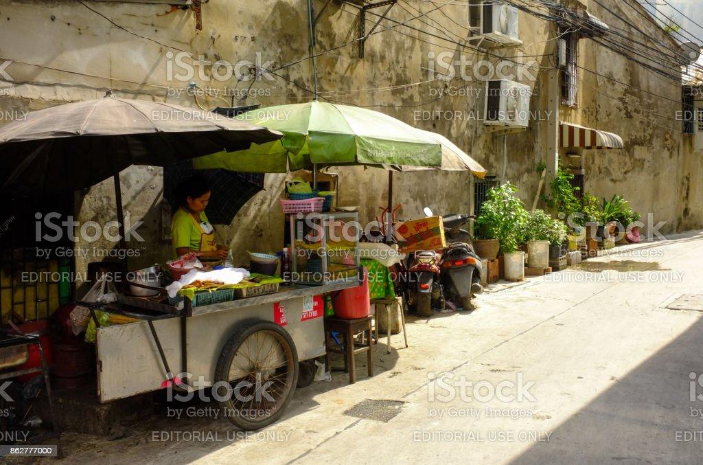 Food Vendor, Bangkok, Thailand stock photo