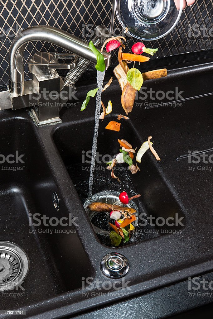Food waste disposer machine. stock photo