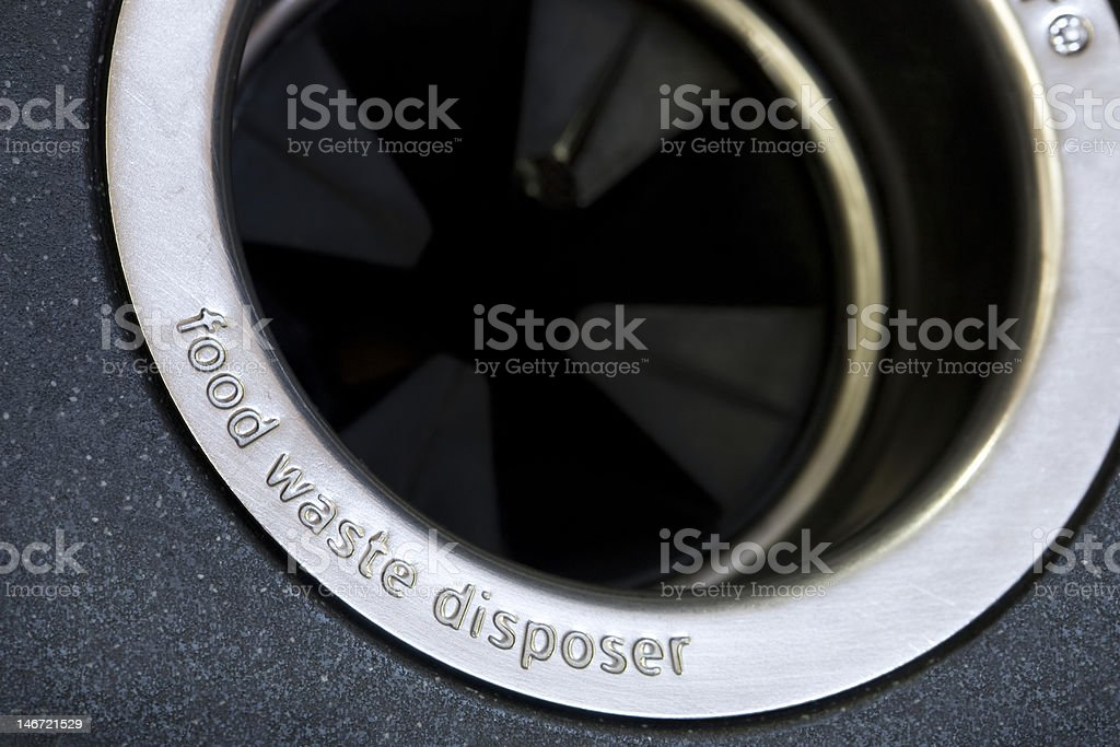 food waste disposer stock photo