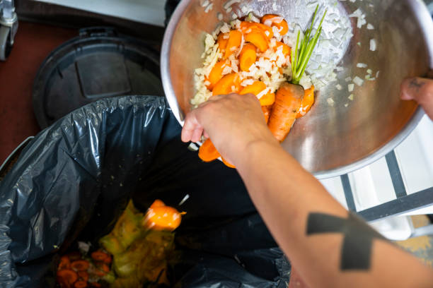 Food waste is a major problem. stock photo