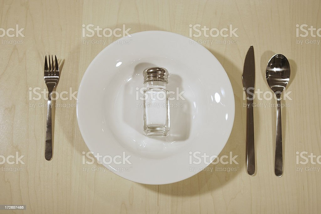 Food: watch your sodium royalty-free stock photo