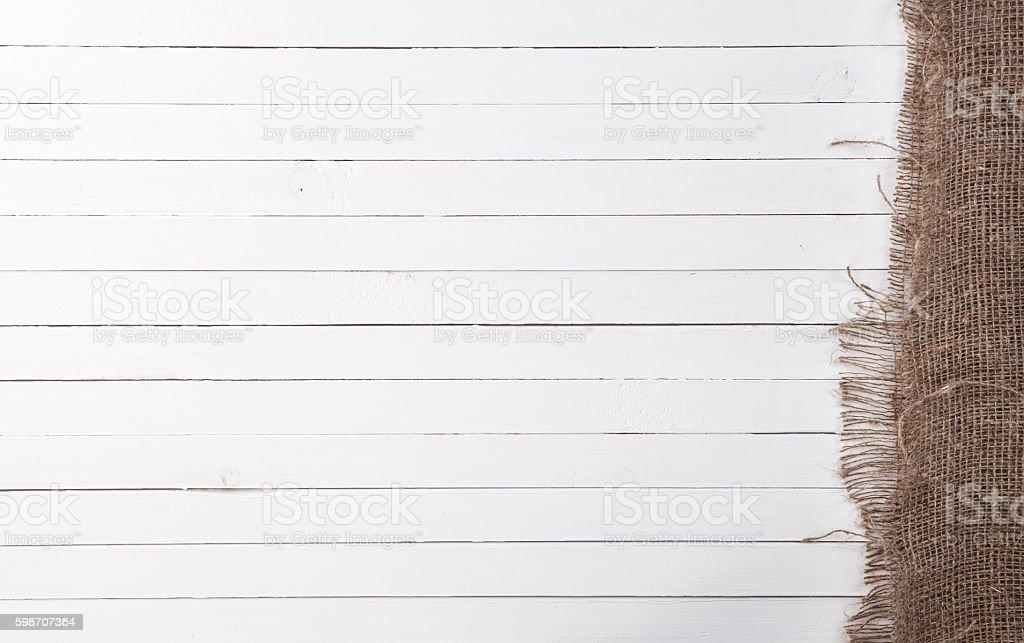 Food white wood background stock photo
