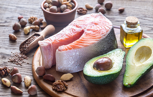 istock Food with Omega-3 fats 637127288