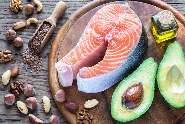 food with omega-3 fats - omega 3 - fotografias e filmes do acervo