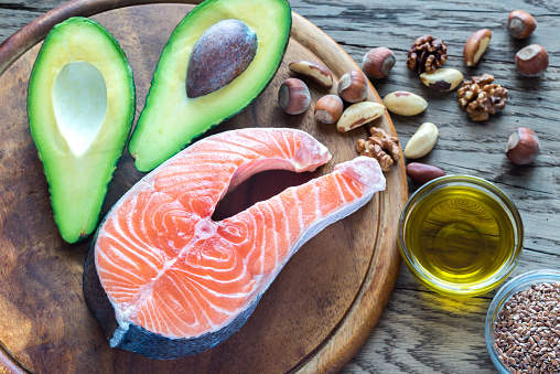 istock Food with Omega-3 fats 637216748
