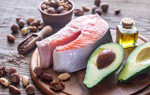 istock Food with Omega-3 fats 637216808