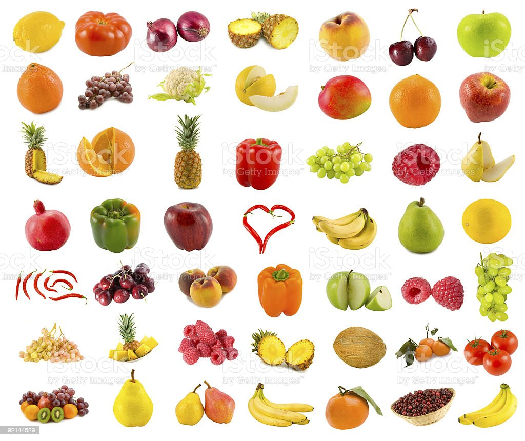Food with peppers and fruit colorful stock photo