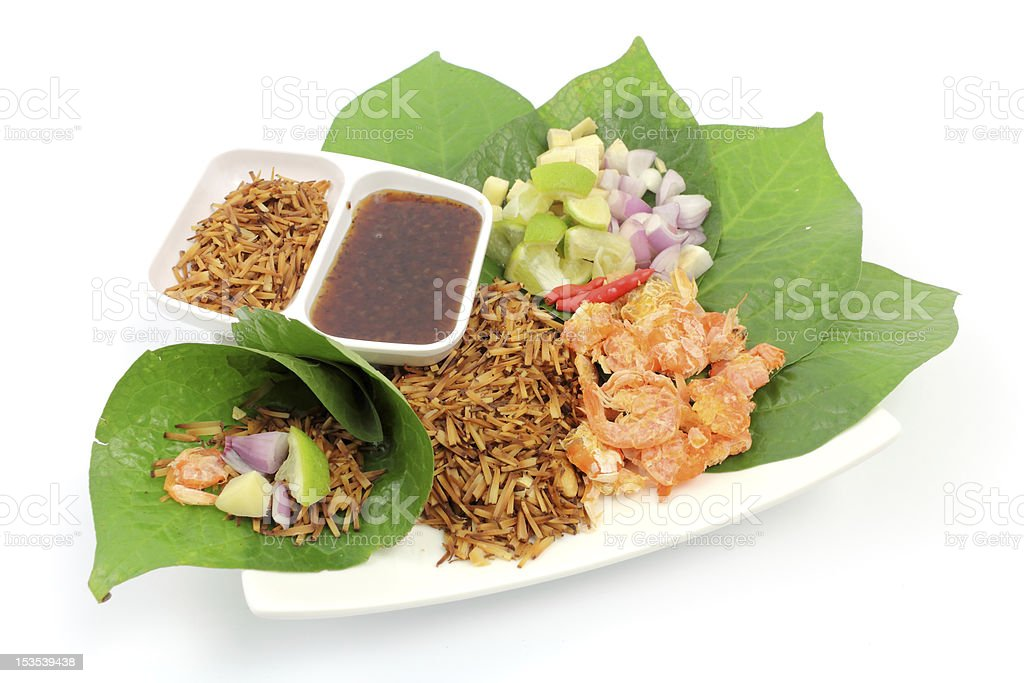 Food wrapped in leaves royalty-free stock photo