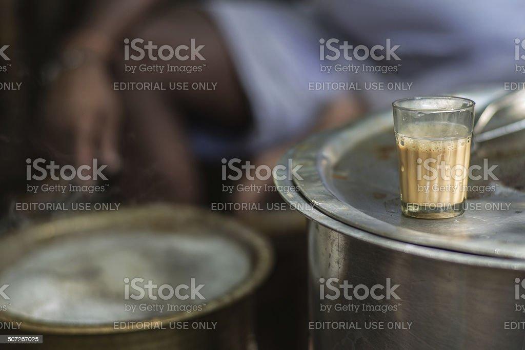 Food_Chai_glass stock photo