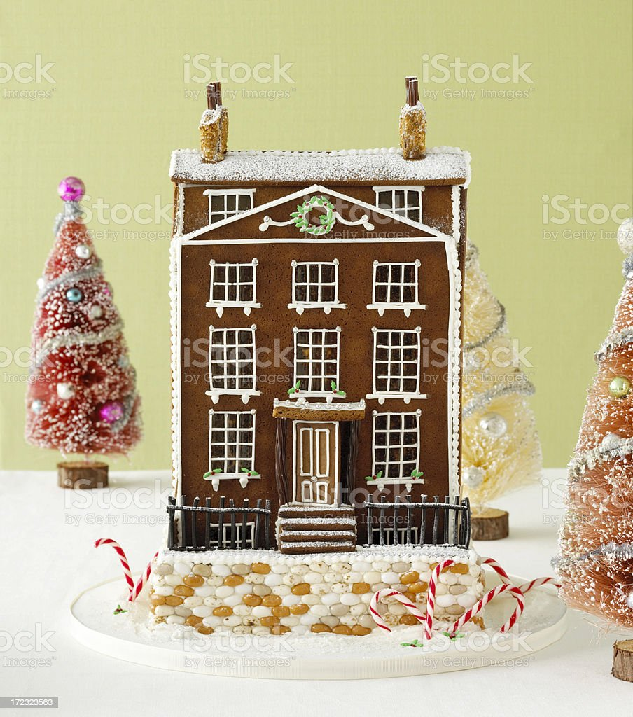 Food-Gingerbread House royalty-free stock photo