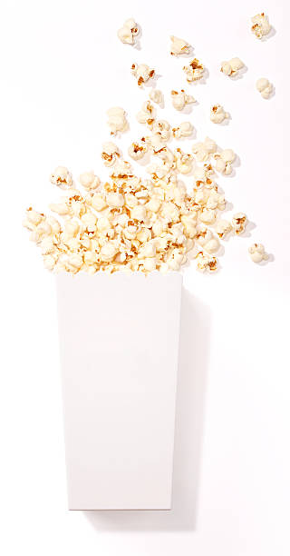 Food-Popcorn stock photo