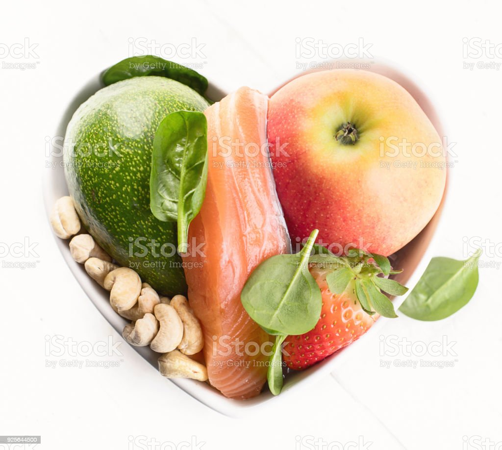 Foods for healthy Heart. Healthy food concept. Top view