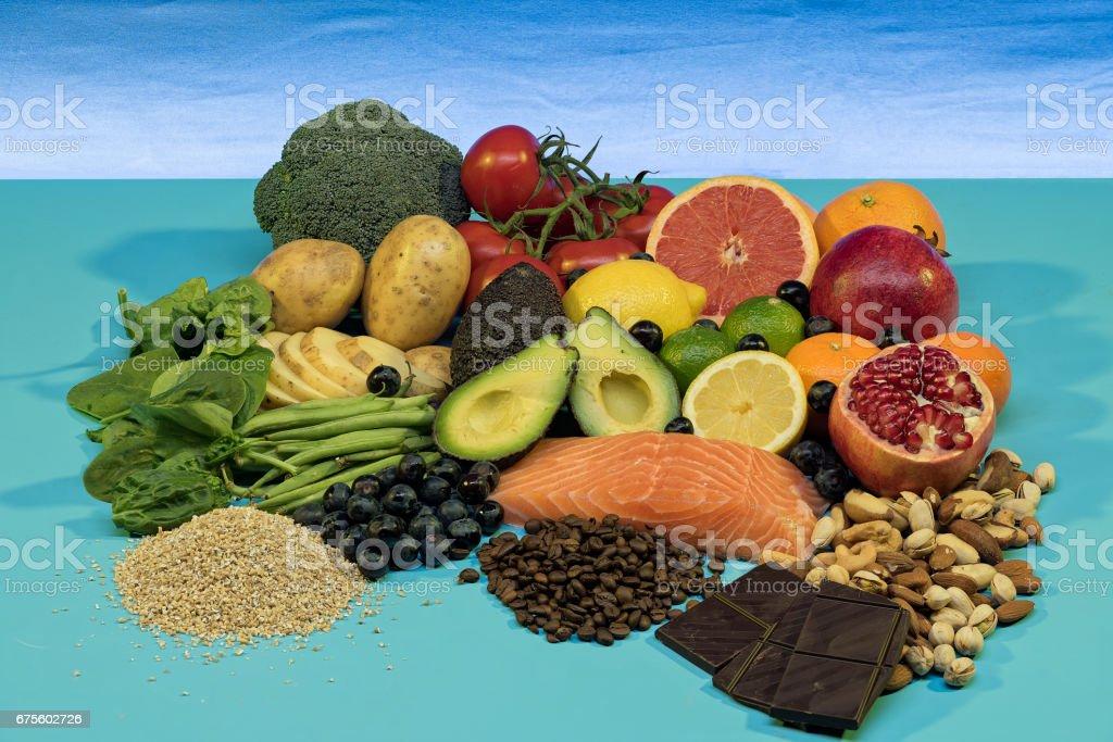 Foods for the heart photo libre de droits
