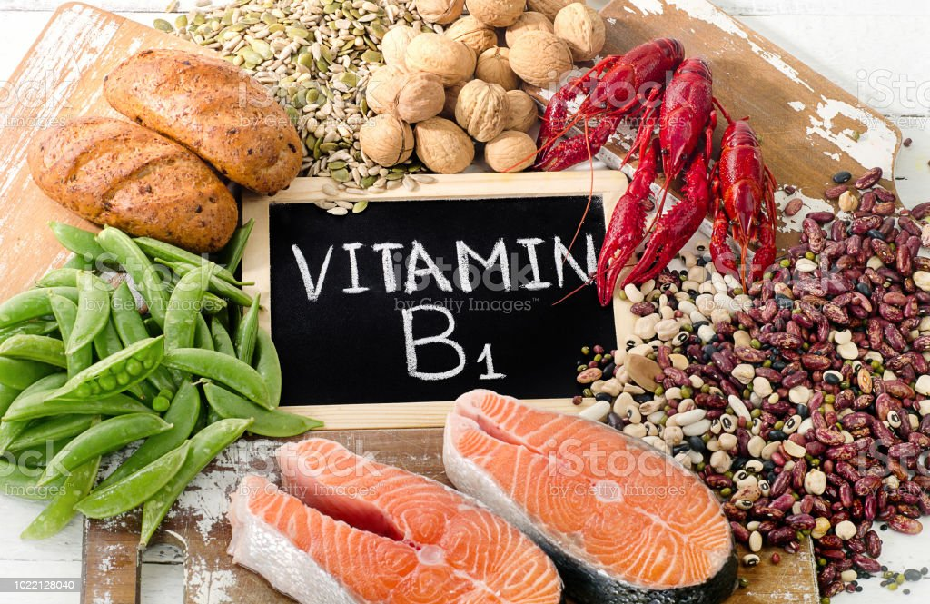 Foods Highest in Vitamin B1 (Thiamin) stock photo