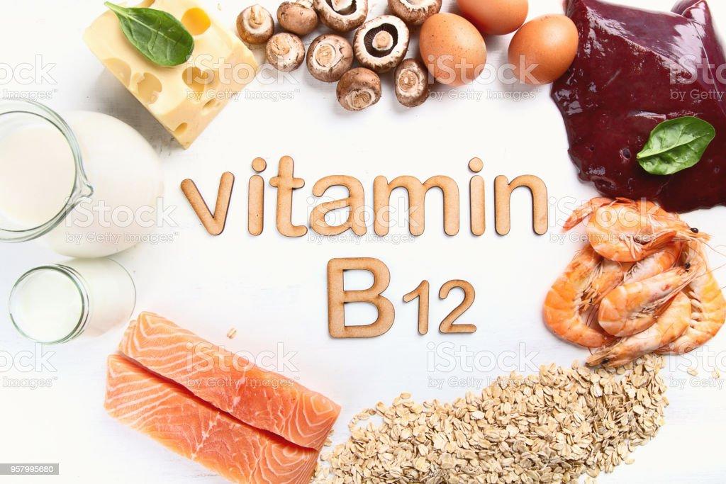 Foods Highest in Vitamin B12 (Cobalamin) stock photo