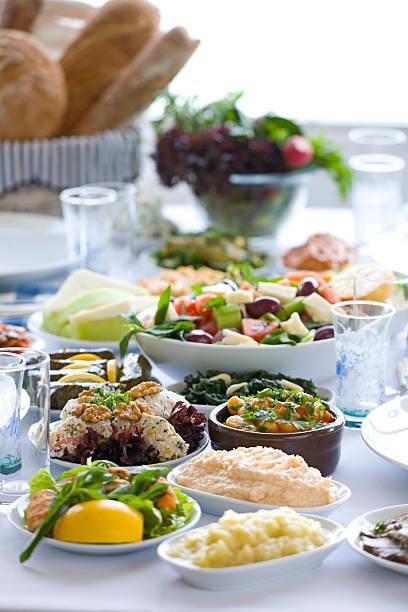 foods - griechische partyspeisen stock-fotos und bilder
