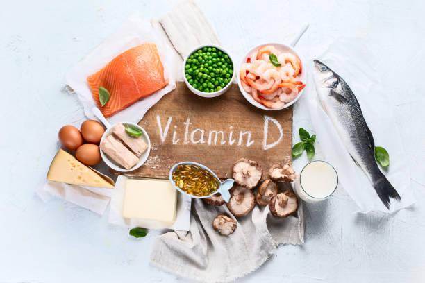 voedingsmiddelen die rijk zijn aan natuurlijke vitamine d - calcium stockfoto's en -beelden