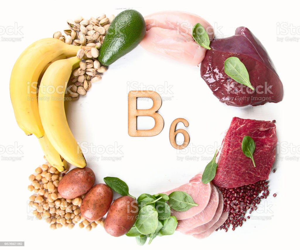 Foods Rich In Vitamin B6 Stock Photo - Download Image Now