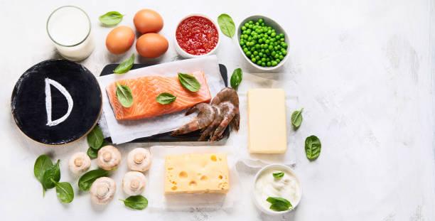 foods rich in vitamin d - vitamin d стоковые фото и изображения