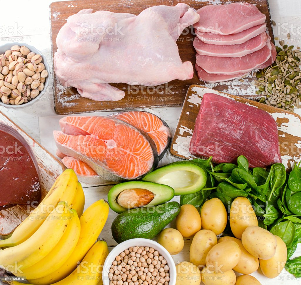 Foods With Vitamin B6 Stock Photo - Download Image Now - iStock