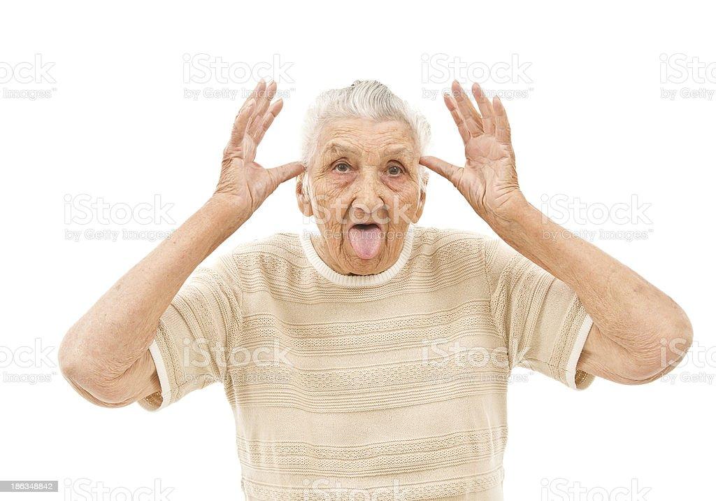 foolish grandma royalty-free stock photo