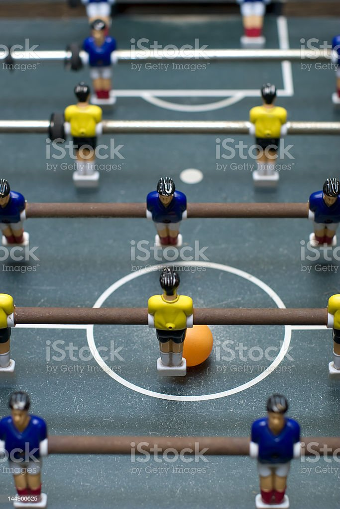 foosball battle top view vertical format royalty-free stock photo