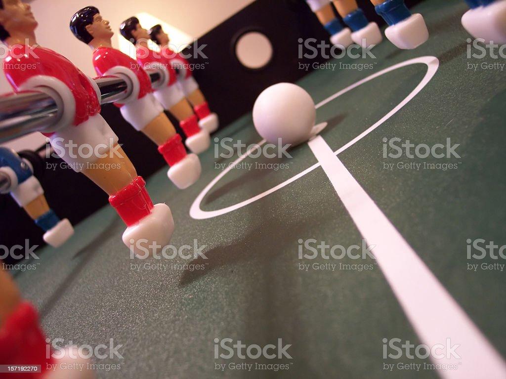 Foosball Kickoff stock photo