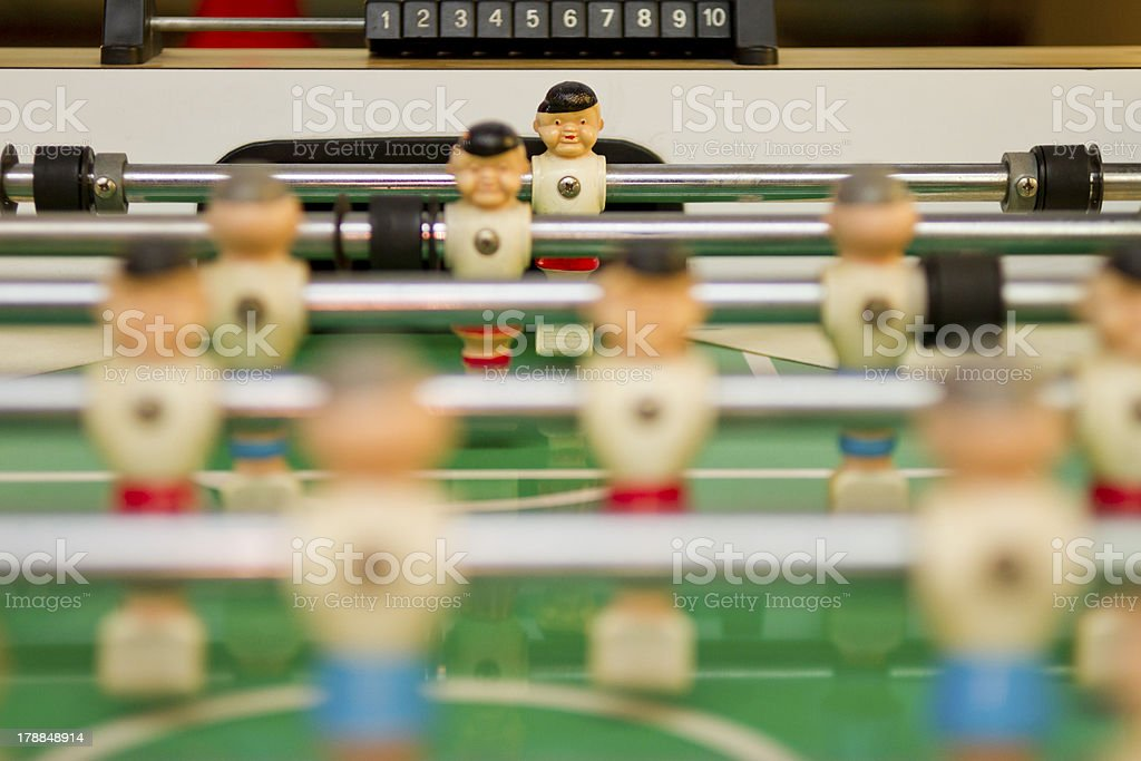 Foosball, or Table-top Soccer royalty-free stock photo