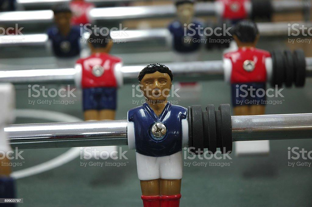 Настольный футбол игрок Стоковые фото Стоковая фотография