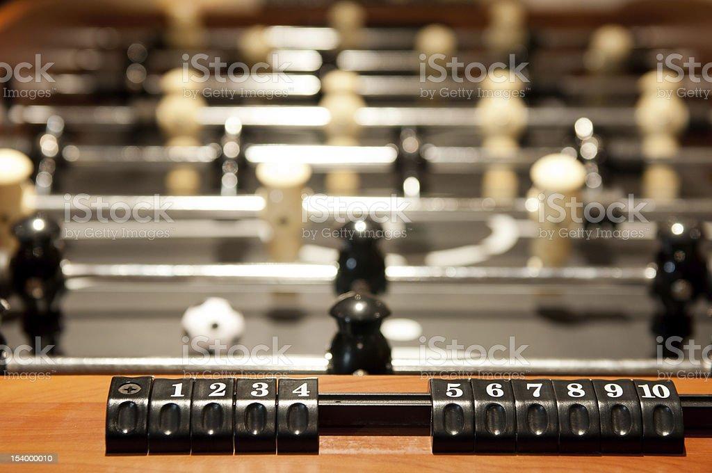 Foosball Scoreboard - Game stock photo