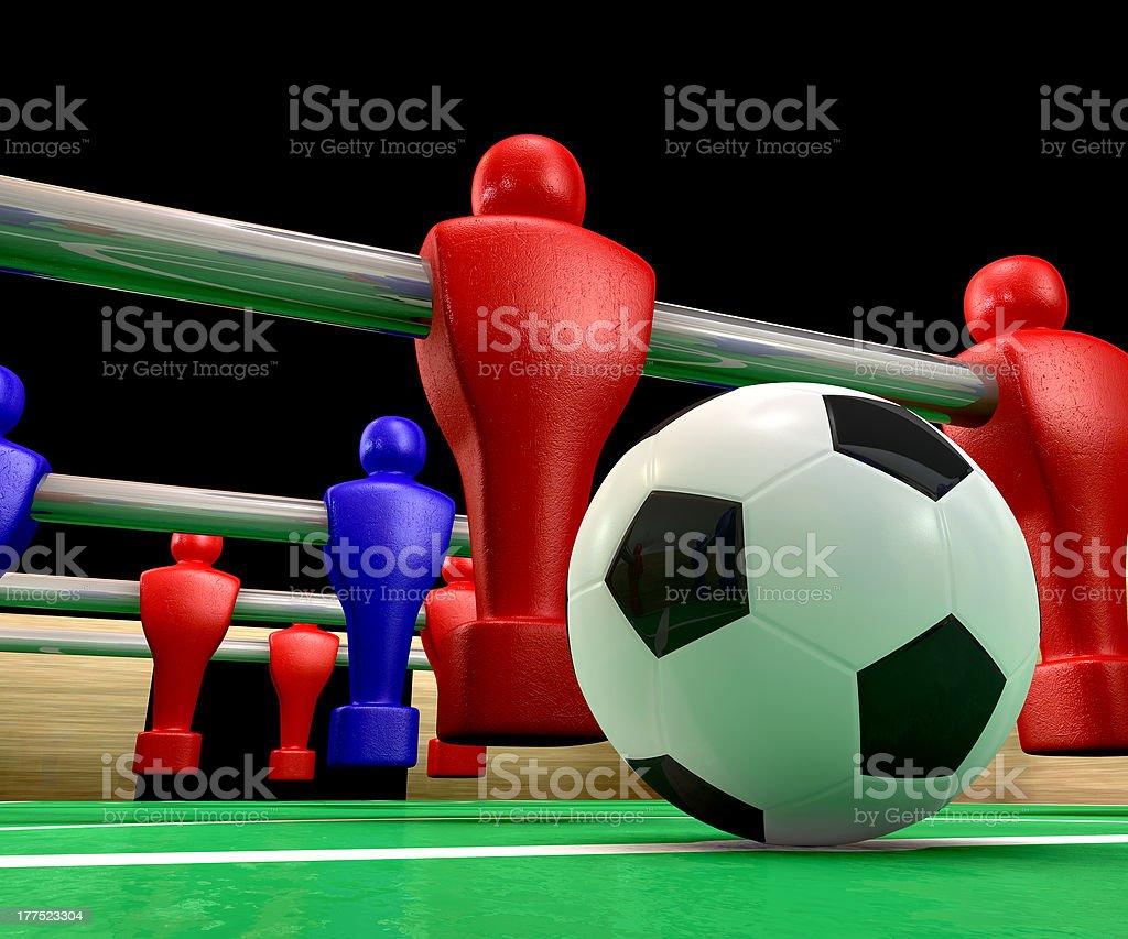 Foosball Table Closeup royalty-free stock photo