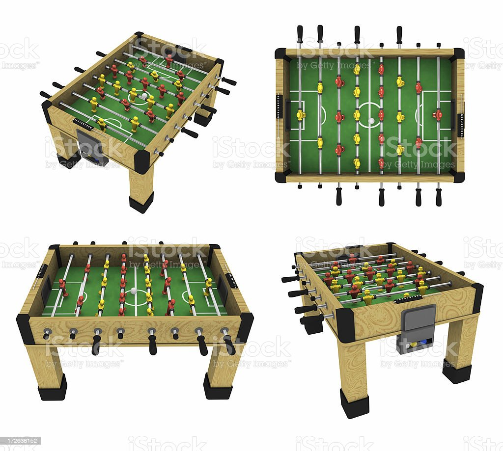 Foosball Table (Clip Path and 3D) royalty-free stock photo
