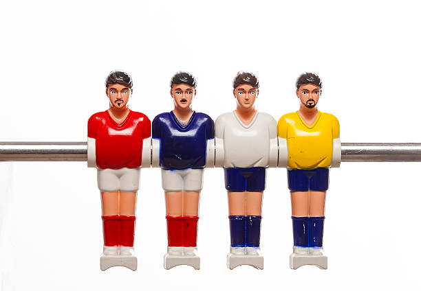 foosball table soccer football players stock photo