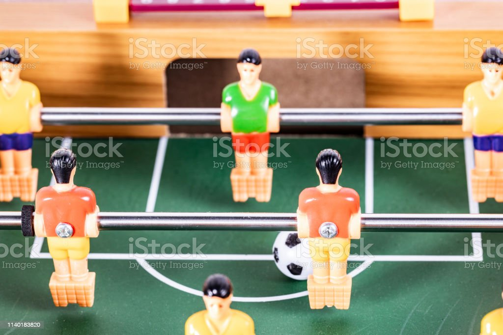 Foosball Table Soccer Sport Teame Football Players Stock Photo