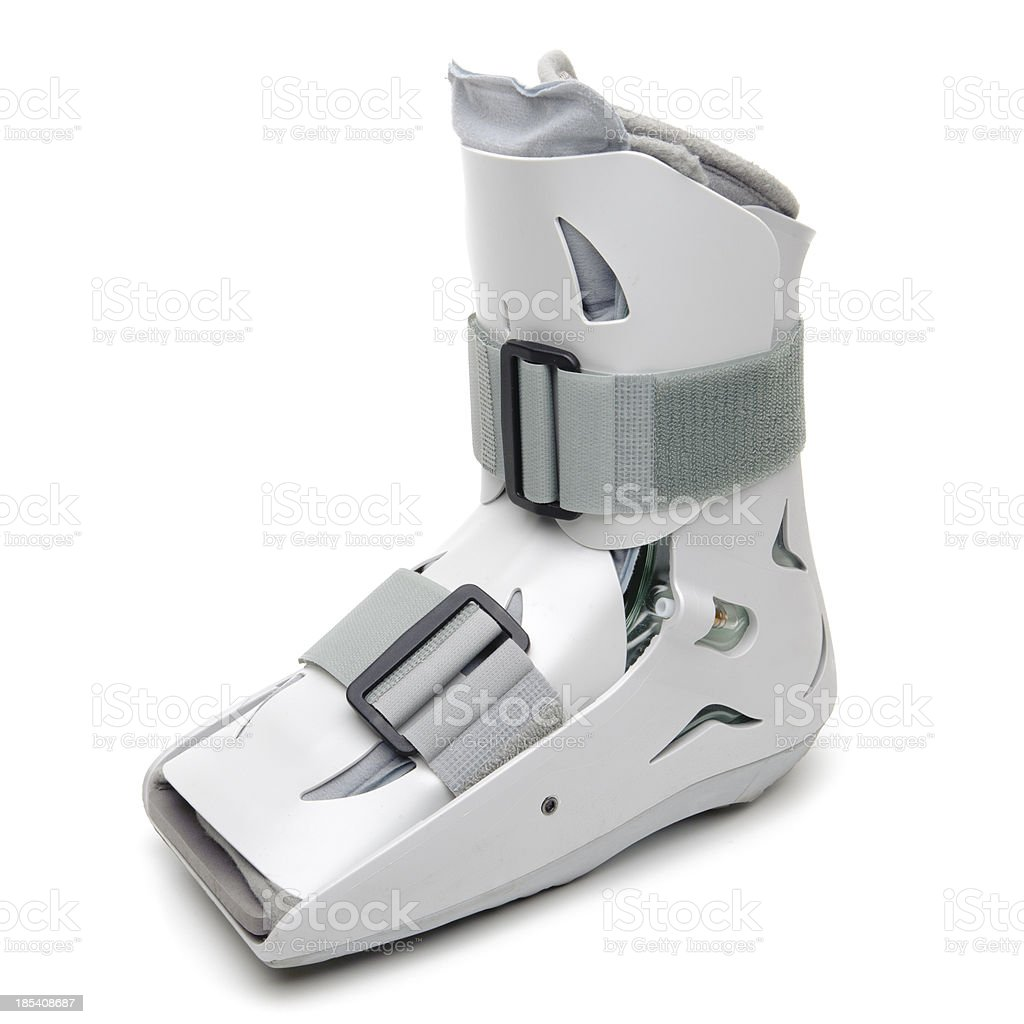 Foot and Ankle Cast - Royalty-free Orthopedic Boot Stock Photo