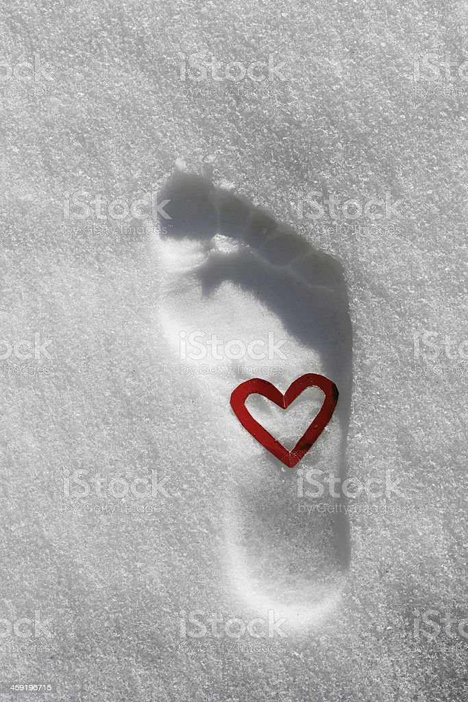 foot and hug stock photo