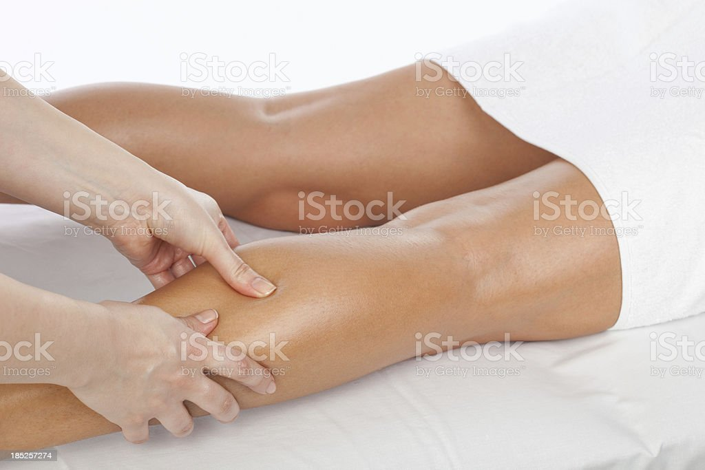 Foot and legs massage royalty-free stock photo