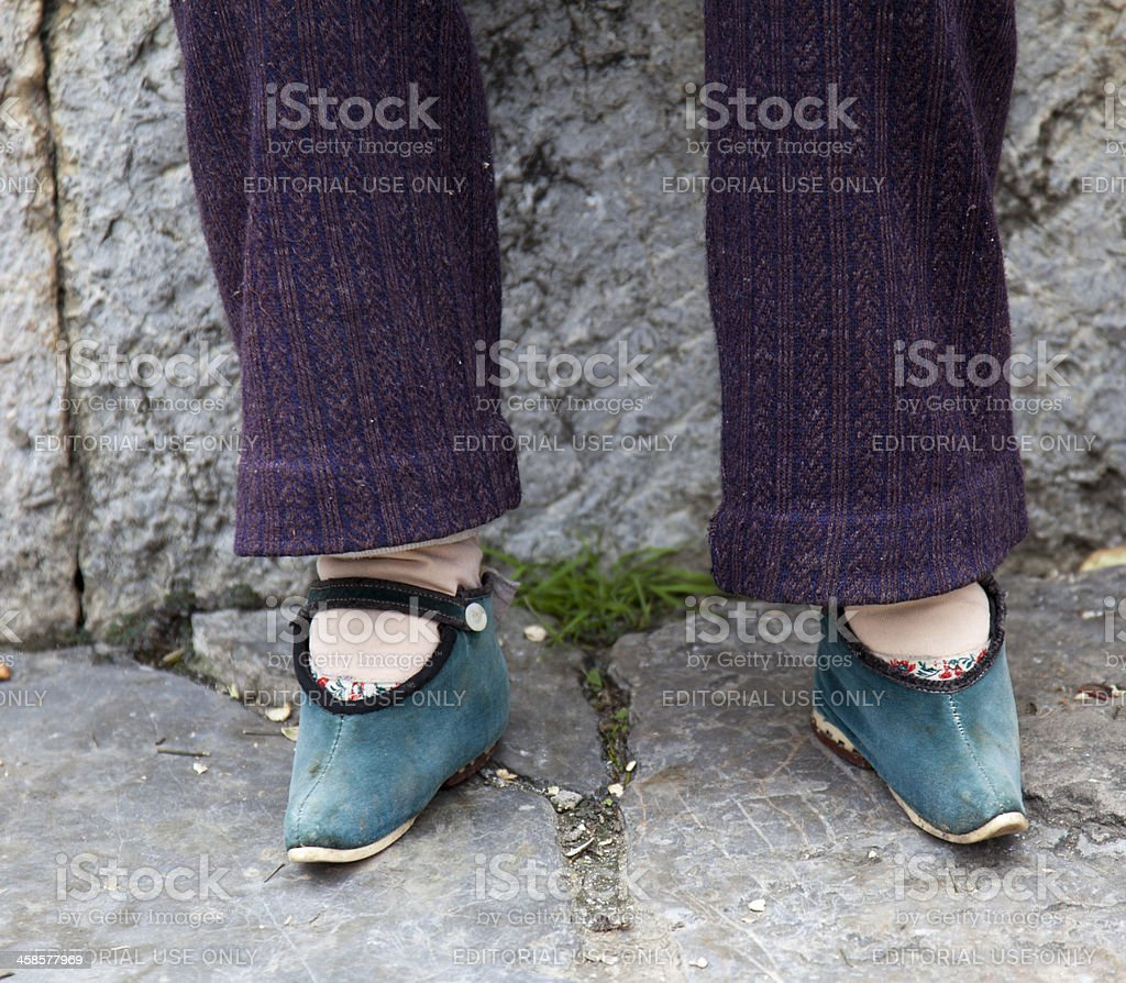 Foot Binding Lotus Feet Stock Photo
