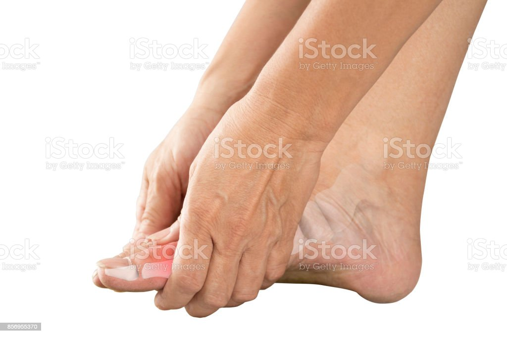 foot bones pain stock photo